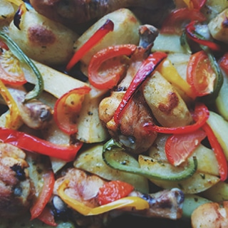 Moroccan roasted vegetables